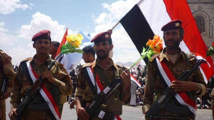 Yemeni Soldiers. The war in Yemen is seen by some as a war between Saudi Arabia and proxies of Iran.