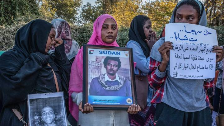 Frauenrechtsaktivistinnen in Sudans Hauptstadt Khartoum