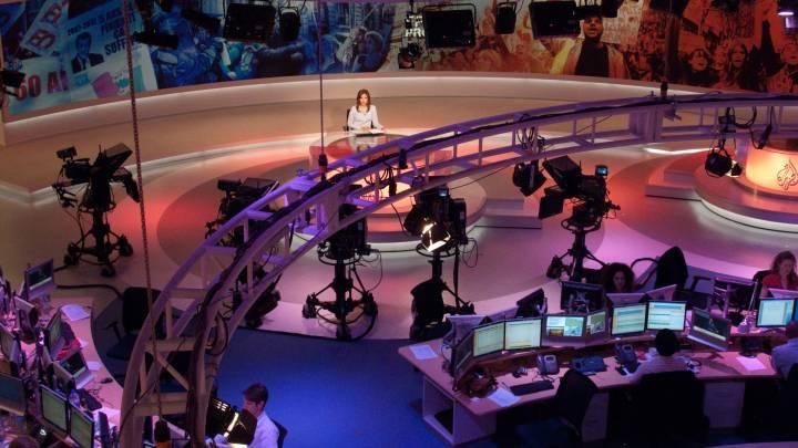 The Al Jazeera newsroom in Doha.