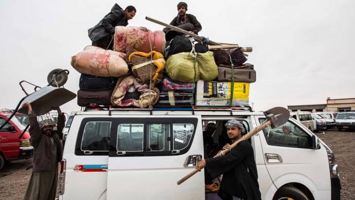 Ägyptische Gastarbeiter in Libyen