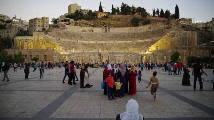 The Roman amphitheatre in downtown Amman, Jordan.
