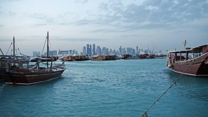 Ansicht der Skyline von Doha