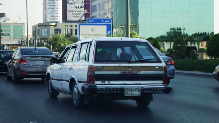Traffic in Riyadh, the capital of Saudi Arabia. From next year, women will be allowed to drive.