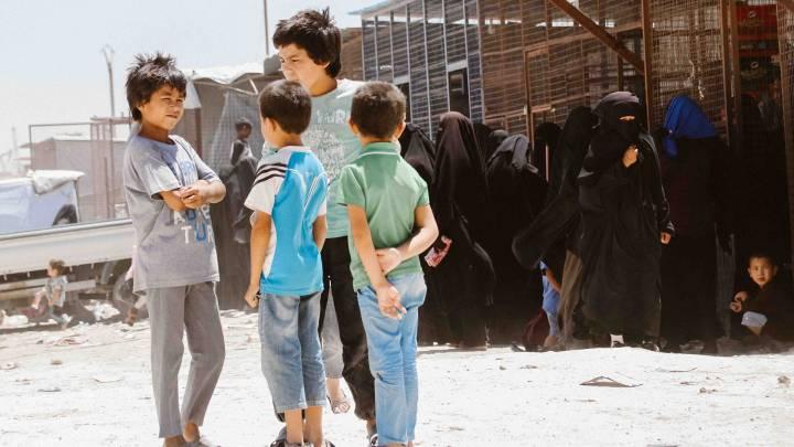 Tunisian children in Syria's camps
