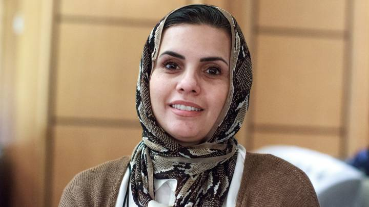 Zahra Langhi, a Libyan exile and human rights defender.