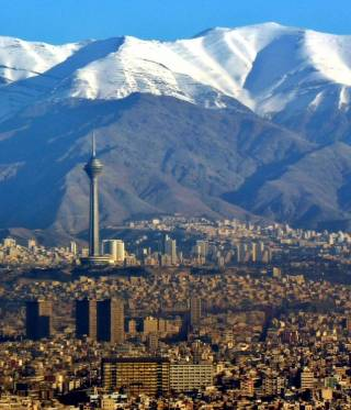 An aerial view over Tehran.