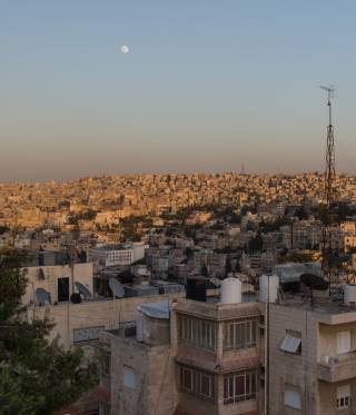 A view over Amman, the capital of Jordan.
