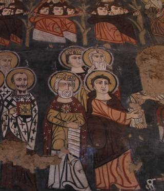 Frescoes in the Syrian monastery Deir Mar Musa