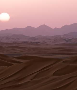 The Sahara desert region of Fezzan in Libya.
