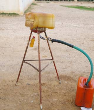 Selling fuel at the road-side