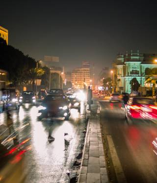 Downtown Cairo at night. Egypt's private sector has underperformed for decades due to corruption.