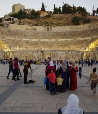 The Roman amphitheatre in downtown Amman, Jordan.