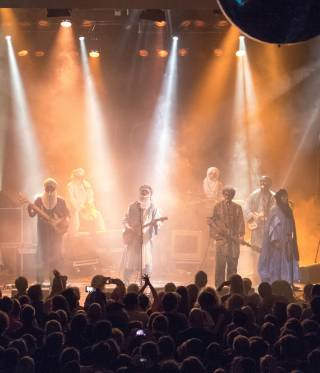 Tinariwen played at Heimathafen in Berlin.